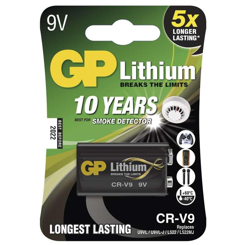 Baterie 9V GP LITHIUM, 1 ks (blistr)
