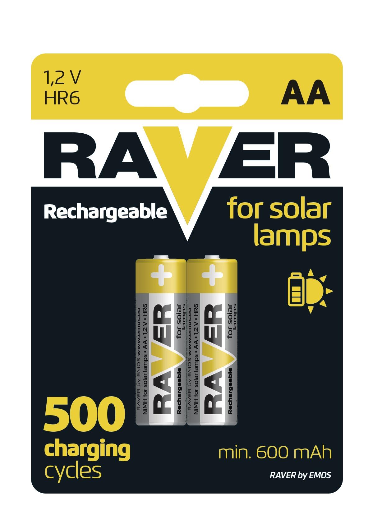 Baterie AA 600mAh RAVER, 2 ks (blistr)