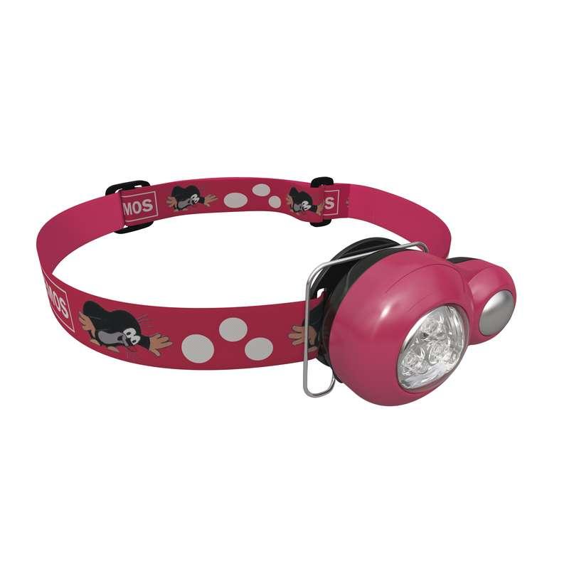 EMOS LED čelovka dětská krteček - růžová