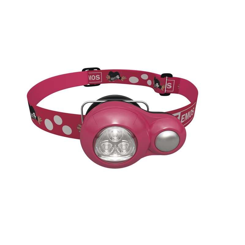 LED čelovka dětská krteček, EMOS, růžová
