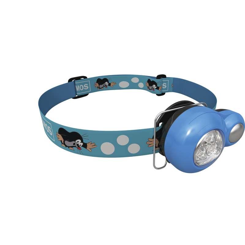 EMOS LED čelovka dětská krteček - modrá