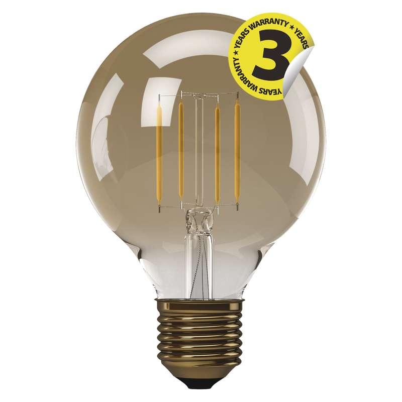 LED GLOBE 4W E27 G95, EMOS, koule, teplá bílá