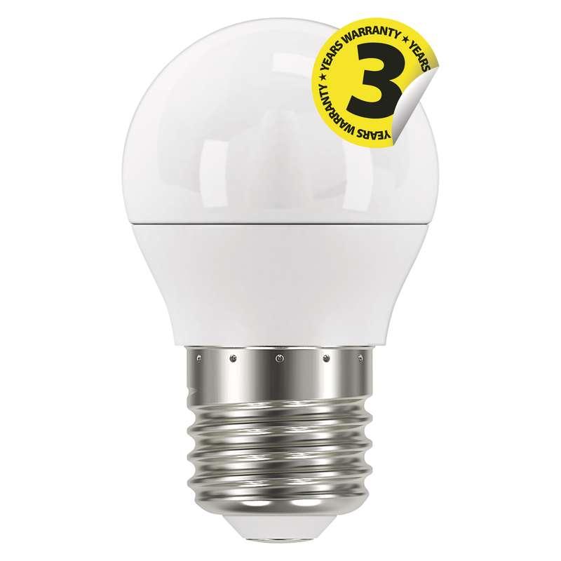 LED mini globe 6W (40W) E27, EMOS, teplá bílá