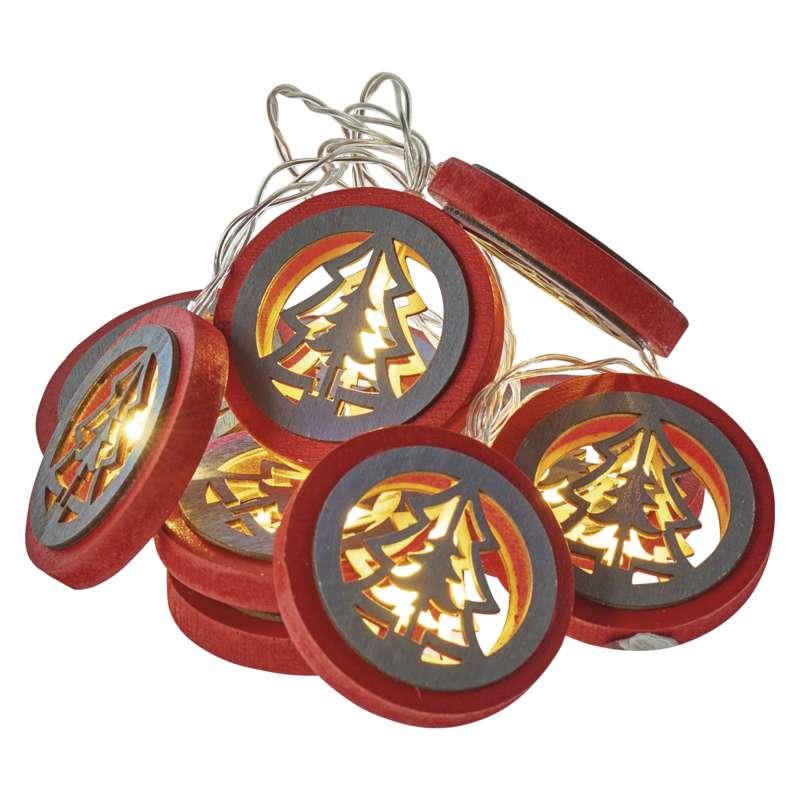 LED vánoční řetěz 10 LED, 1,35m, přívod 0,3m, girlanda stromky, teplá bílá, EMOS