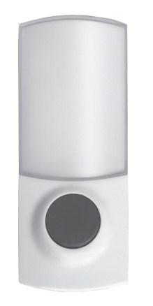 Solight bezdrátové tlačítko pro zvonek 1L38, 150m, bílé, learning code, kryt na jmenovku