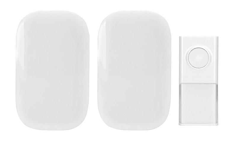 Solight 2x bezdrátový zvonek, do zásuvky, 150m, bílý