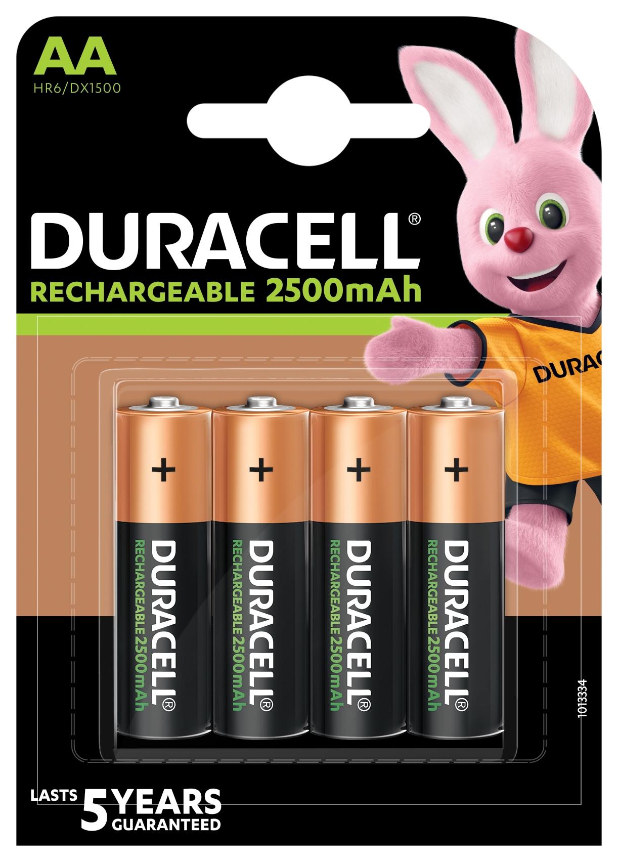 Baterie AA/HR6 2500mAh DURACELL RECHARGEABLE, 4 ks (blistr)