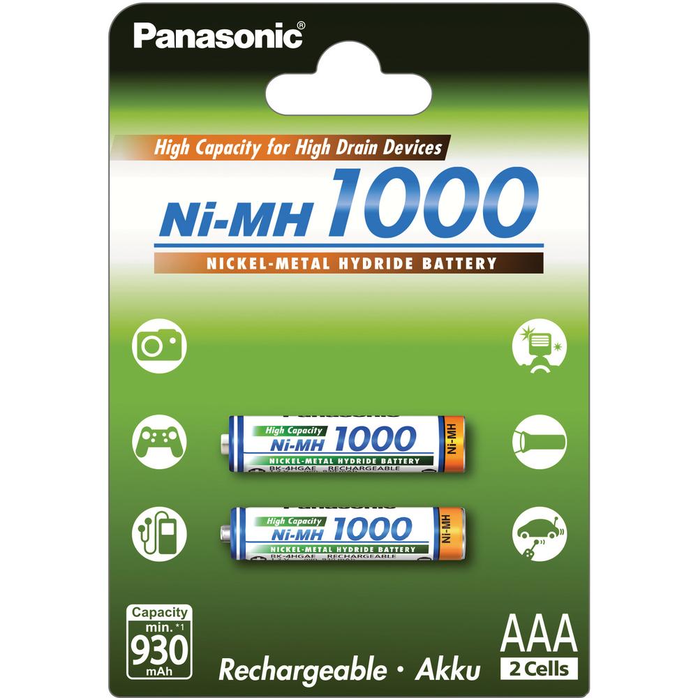 Baterie AAA 1000mAh Panasonic, 2 ks (blistr)