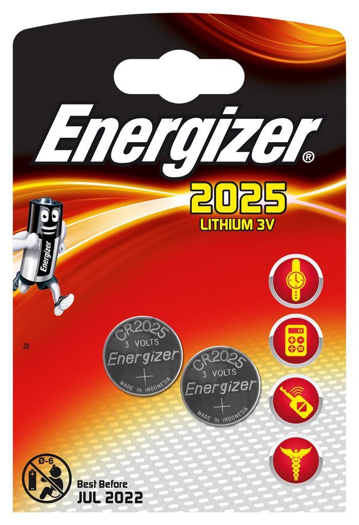 Baterie Energizer CR2025 2 ks (blistr)