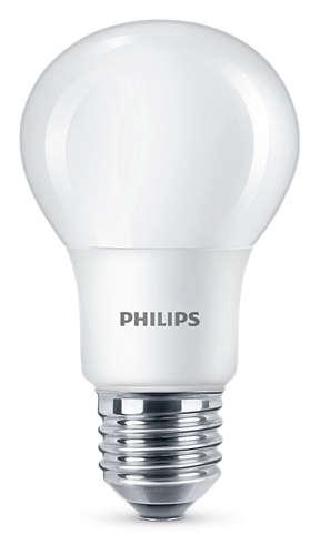 LED žárovka 8W (60W) E27 PHILIPS, teplá bílá