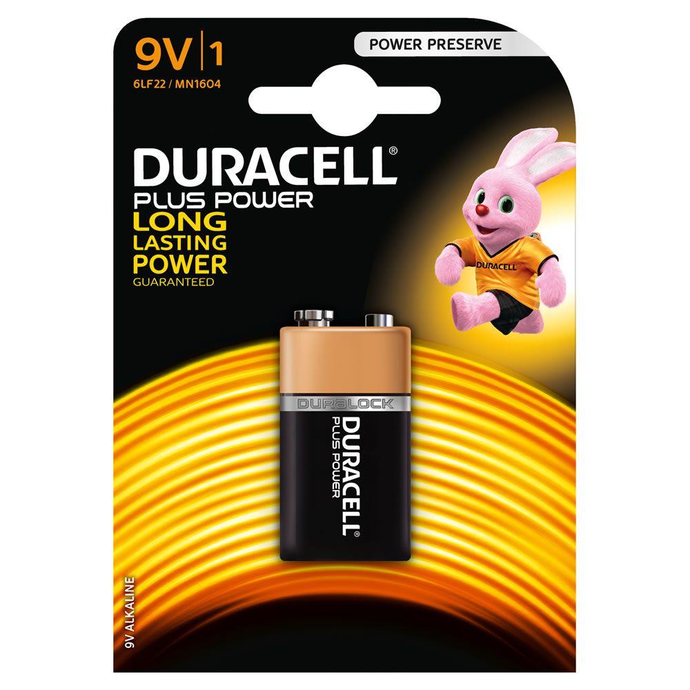 Baterie 9V Duracell PLUS POWER, 1ks (blistr)
