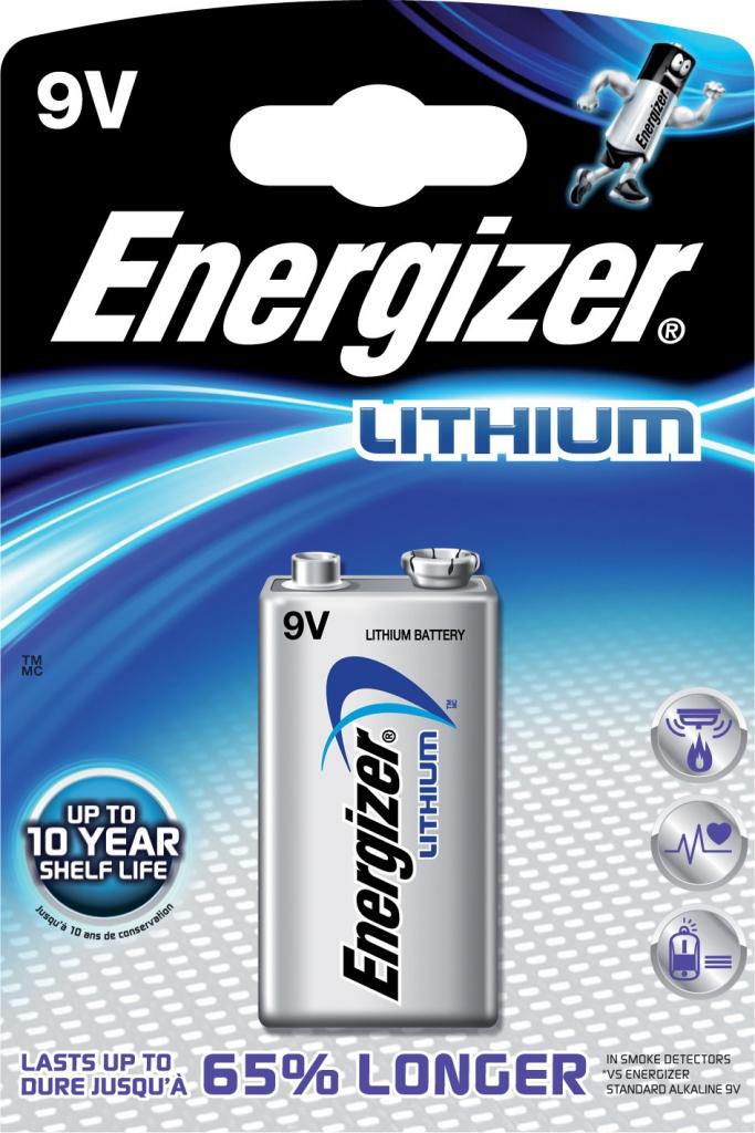 Baterie Energizer LITHIUM 9V (1 blistr)