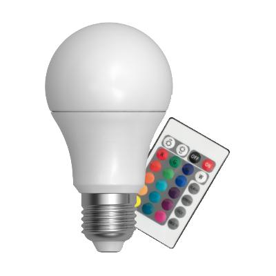 LED žárovka 4W E27, RGB s dálkovým ovládáním, SKYLIGHTING