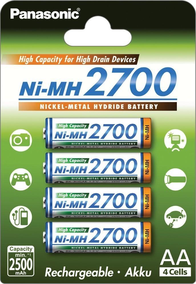 Baterie AA 2700mAh PANASONIC, 4 ks (blistr)