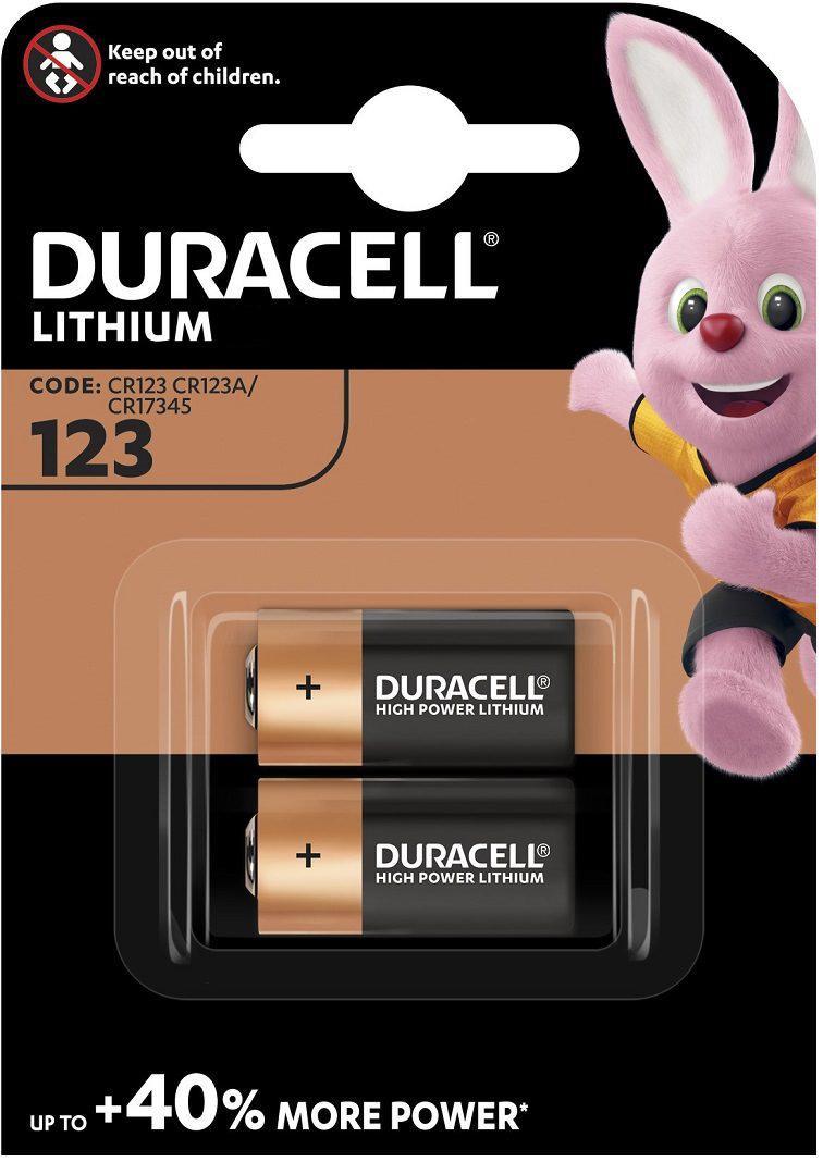 Baterie CR123 DURACELL High Power Lithium 2 ks (blistr)