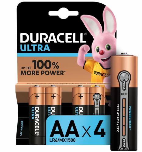 Baterie AA/LR6 DURACELL ULTRA, 4 ks