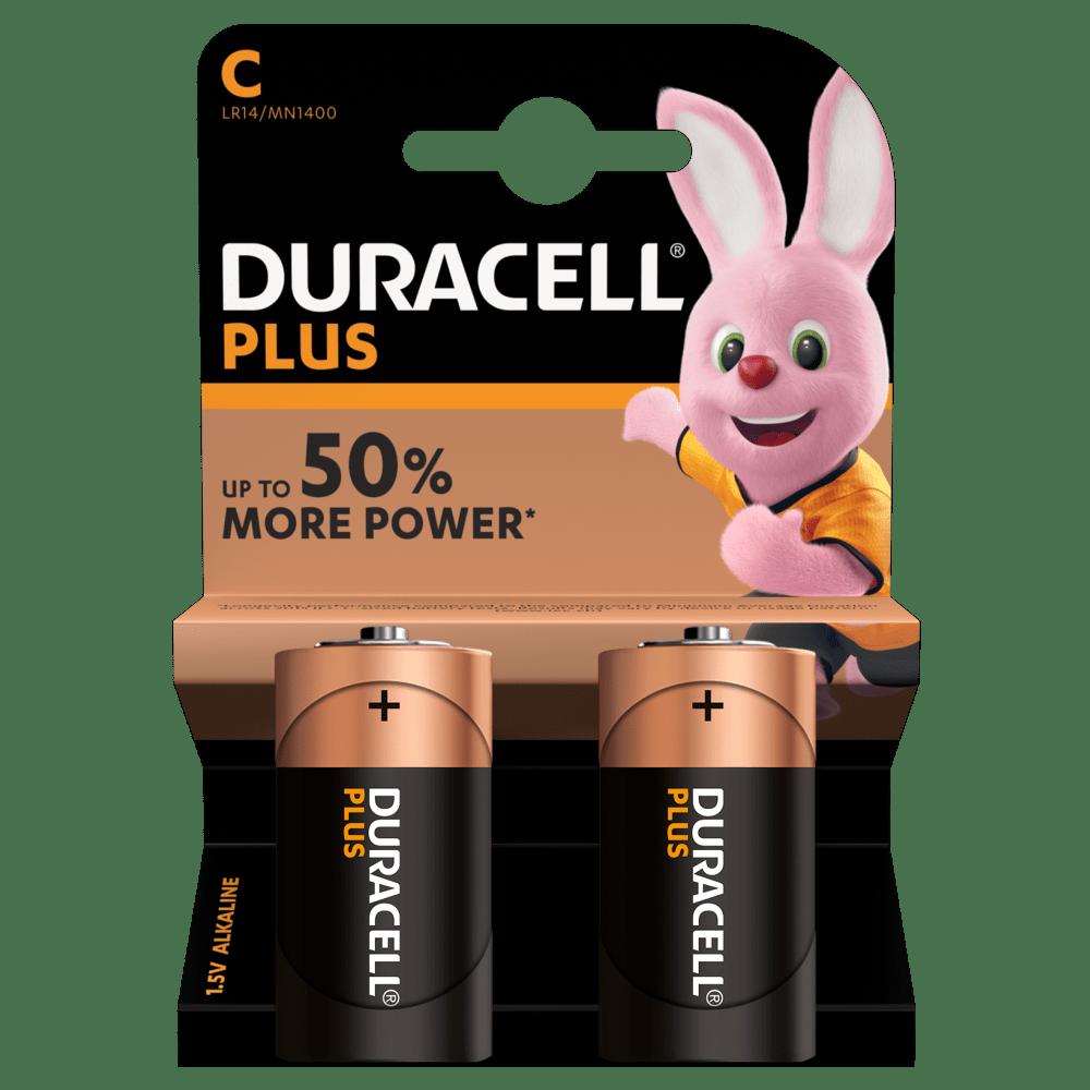 Baterie LR14/C Duracell Plus, 2 ks (blistr)