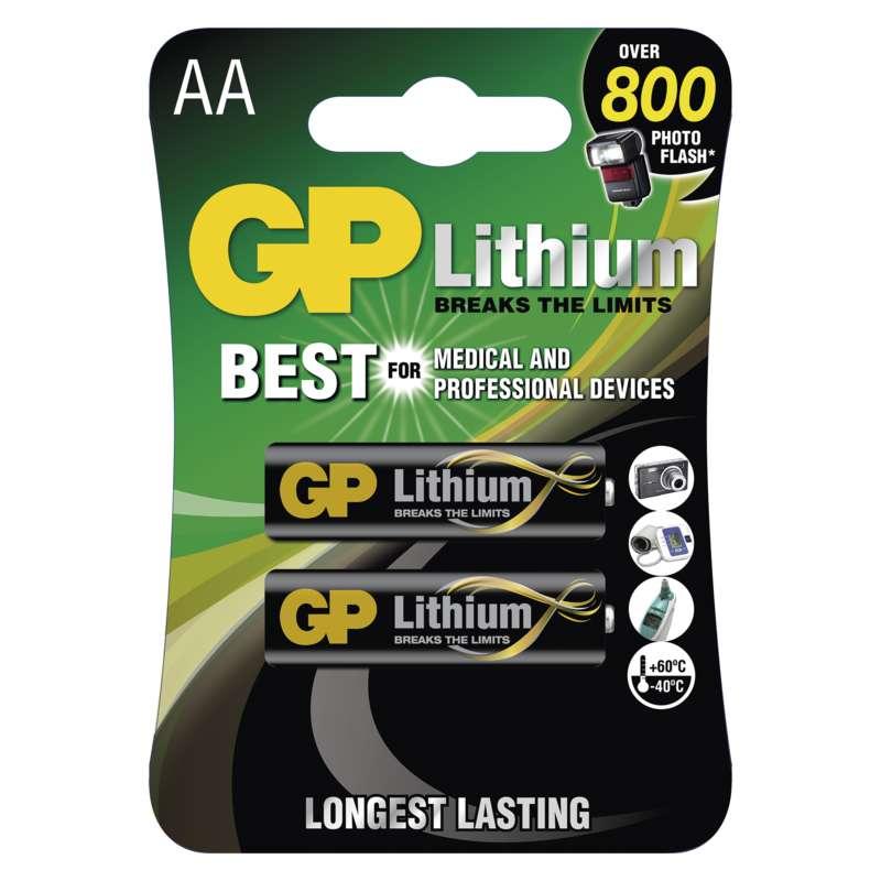 Baterie AA/FR6 GP Lithium, 2 ks (blistr)