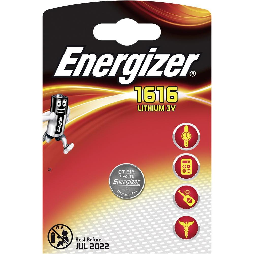 Baterie CR1616 ENERGIZER, 1 ks (blistr)