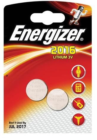 Baterie CR2016 ENERGIZER, 2 ks (blistr)