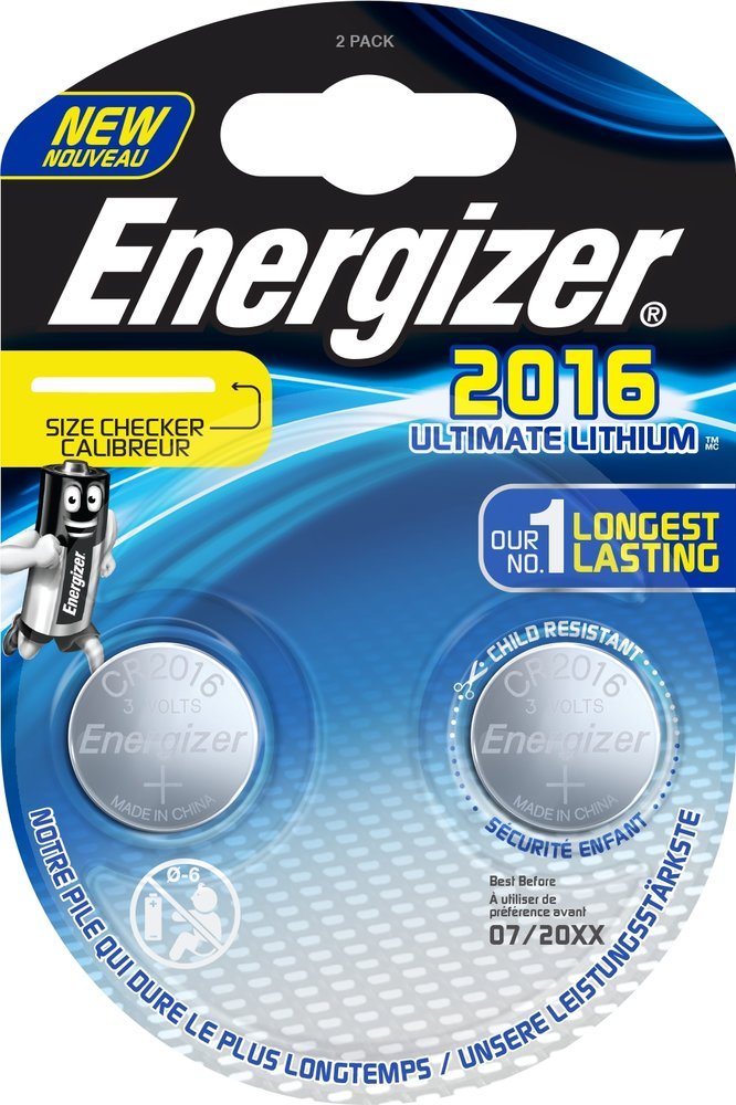 Baterie CR2016 Energizer Ultimate Lithium 2ks