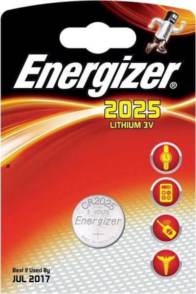 Baterie CR2025 ENERGIZER, 1 ks (blistr)