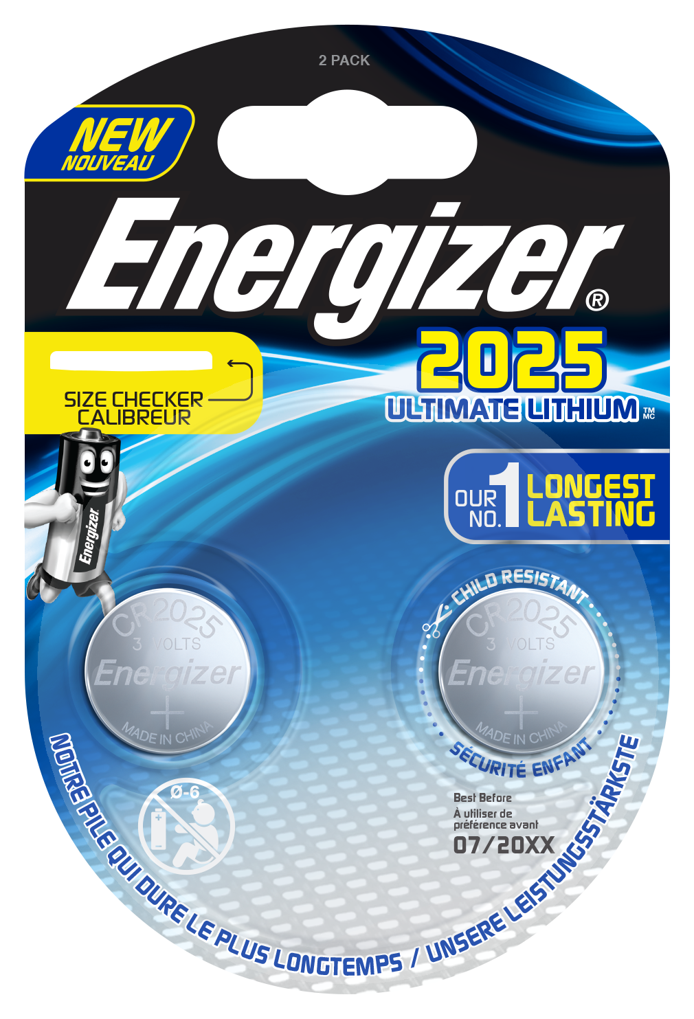 Baterie CR2025 Energizer Ultimate Lithium 2ks
