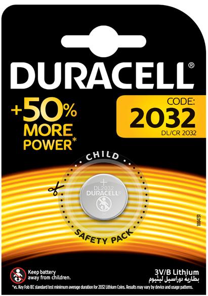 Baterie CR2032 DURACELL, 1 ks (blistr)