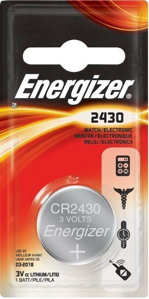 Baterie CR2430 ENERGIZER, 1 ks (blistr)