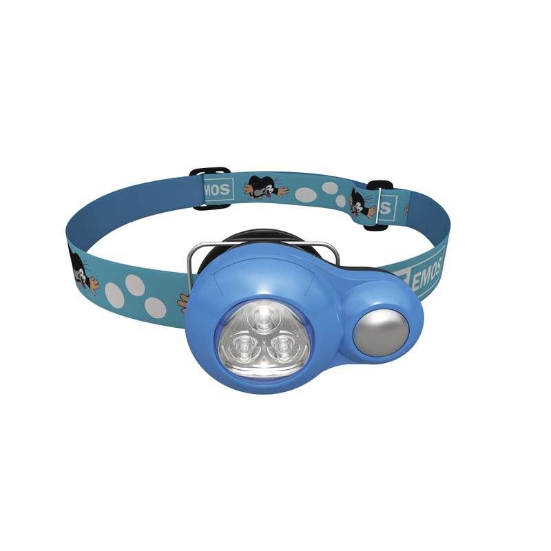 LED čelovka dětská krteček, EMOS, modrá