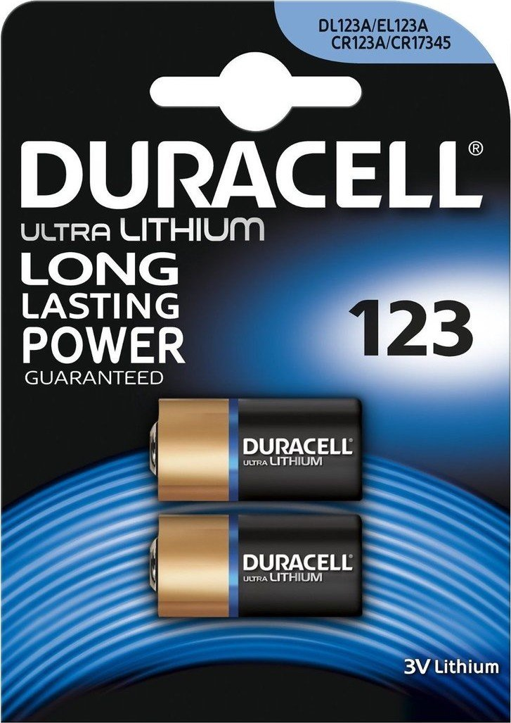 Baterie CR123 DURACELL High Power Lithium 2 ks (blistr)