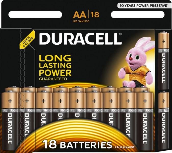 Baterie Duracell AA LR6 18 ks (blistr)