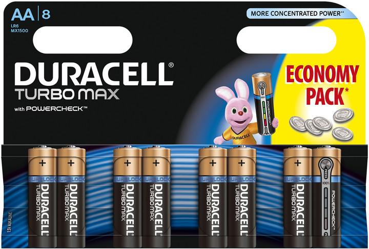 Baterie Duracell TURBO MAX AA 8 ks