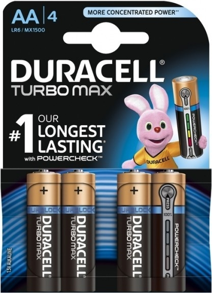 Baterie AA/LR6 DURACELL TURBO MAX, 4 ks (blistr)