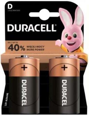 Baterie LR20/D DURACELL Basic, 2 ks (blistr)