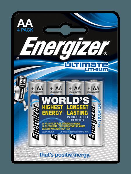 Baterie AA/FR6 ENERGIZER Ultimate LITHIUM, 4 ks (blistr)