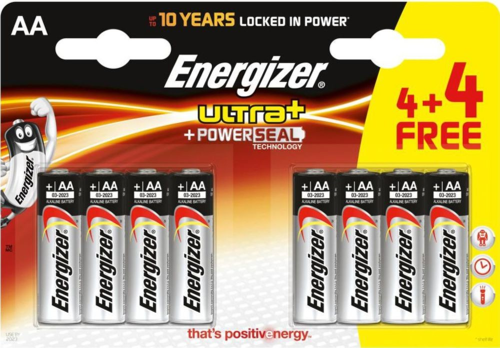 Baterie AA/LR6 ENERGIZER MAX+ PowerSeal 4+4