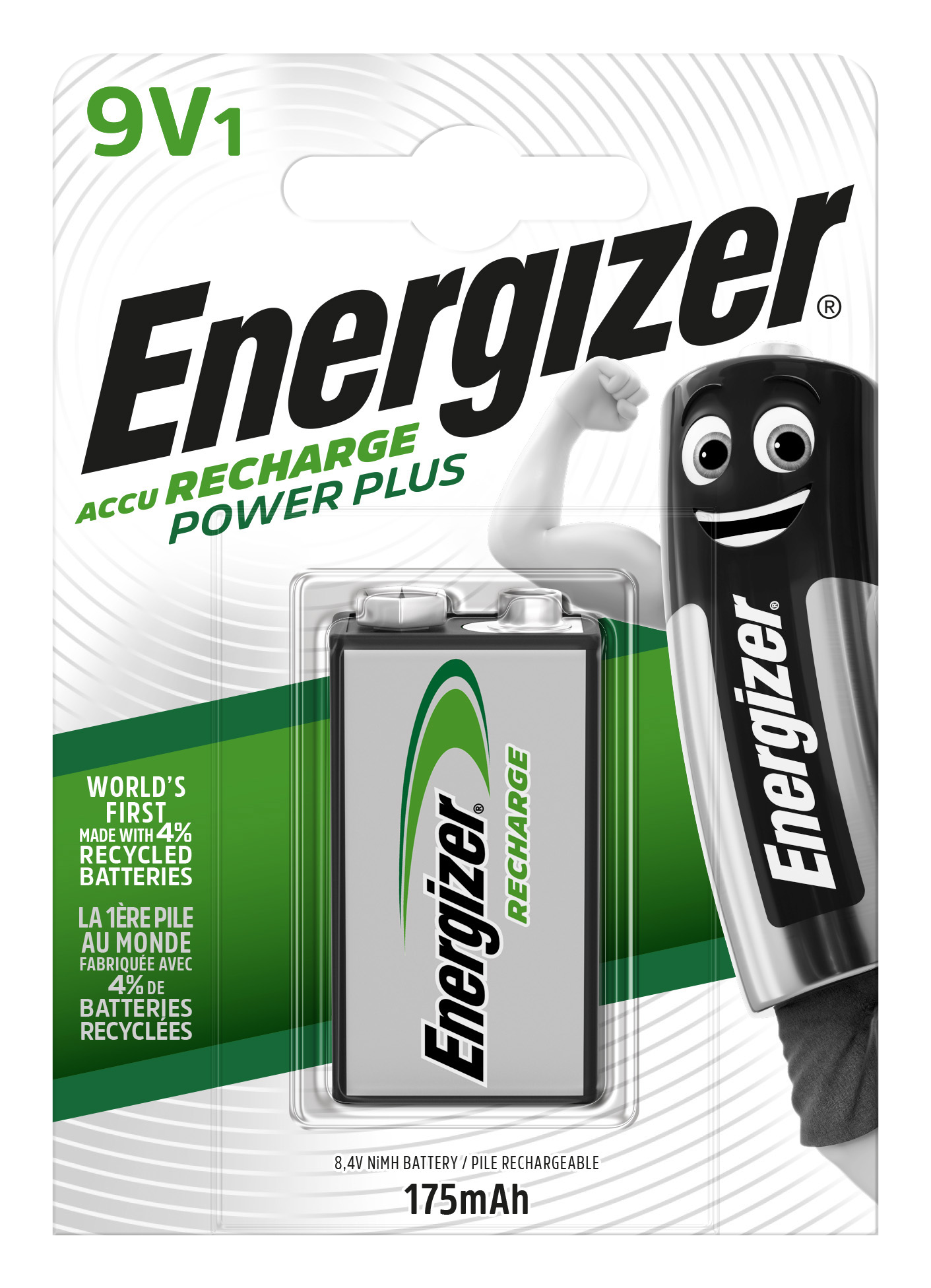 Baterie 9V 175mAh Energizer Power Plus, 1ks (blistr)
