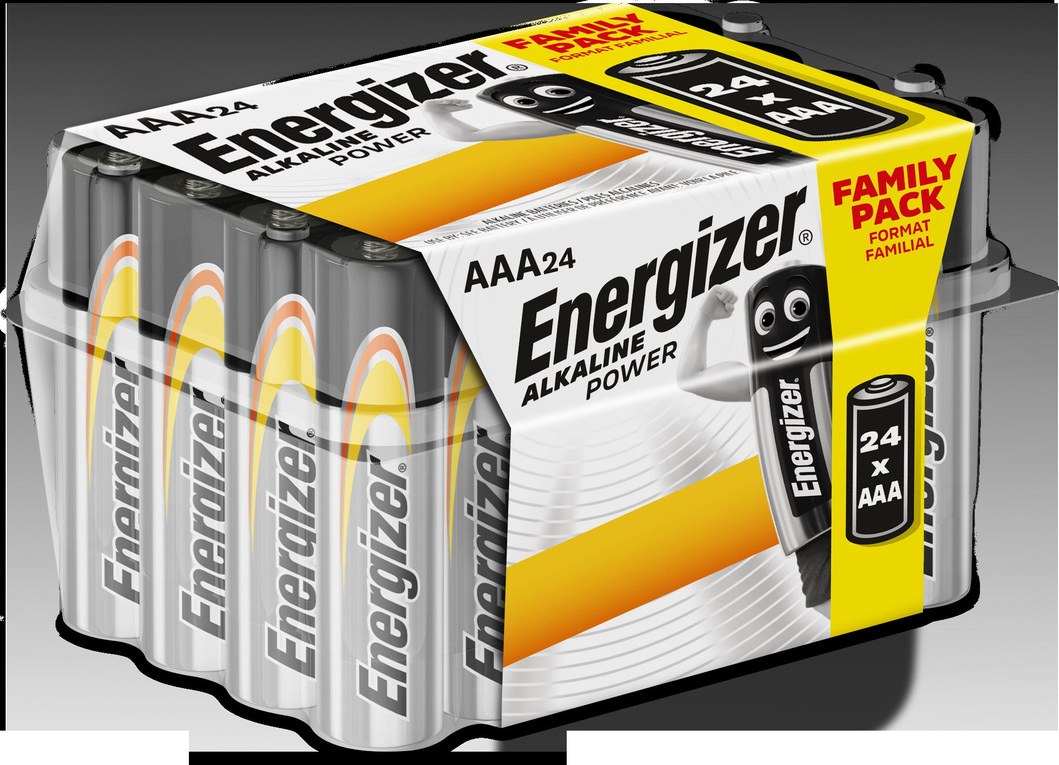 Baterie AAA/LR03 ENERGIZER Alkaline Power, Family pack 24 ks
