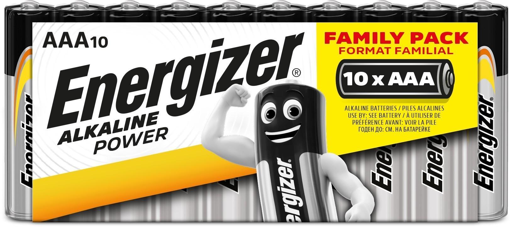 Baterie AAA/LR03 ENERGIZER Alkaline Power, 10 ks