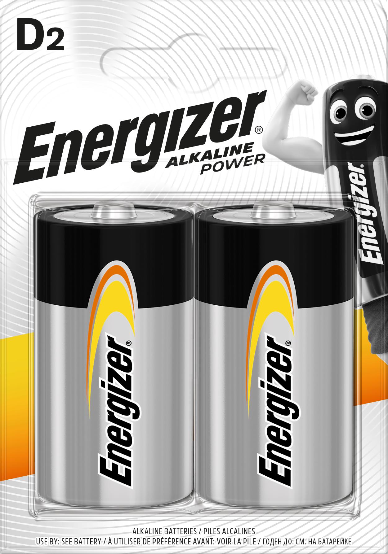 Baterie LR20/D ENERGIZER Alkaline Power, 2 ks (blistr)