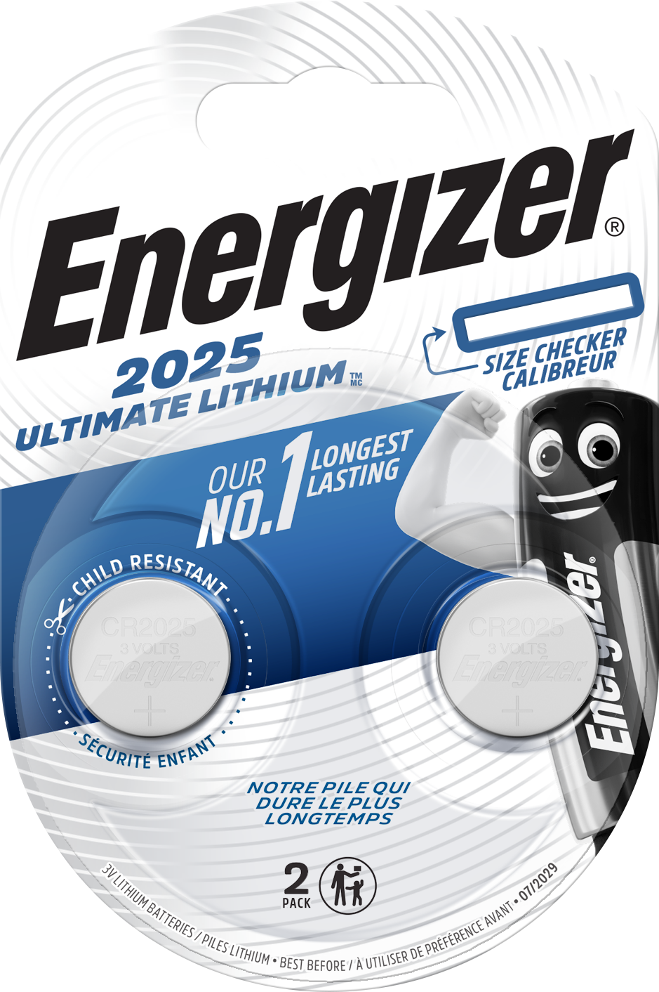 Baterie CR2025 ENERGIZER Ultimate Lithium 2 ks (blistr)