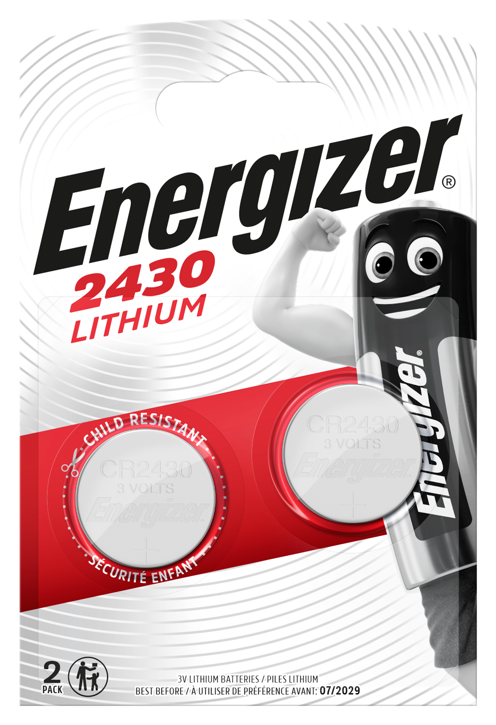 Baterie CR2430 ENERGIZER, 2 ks (blistr)