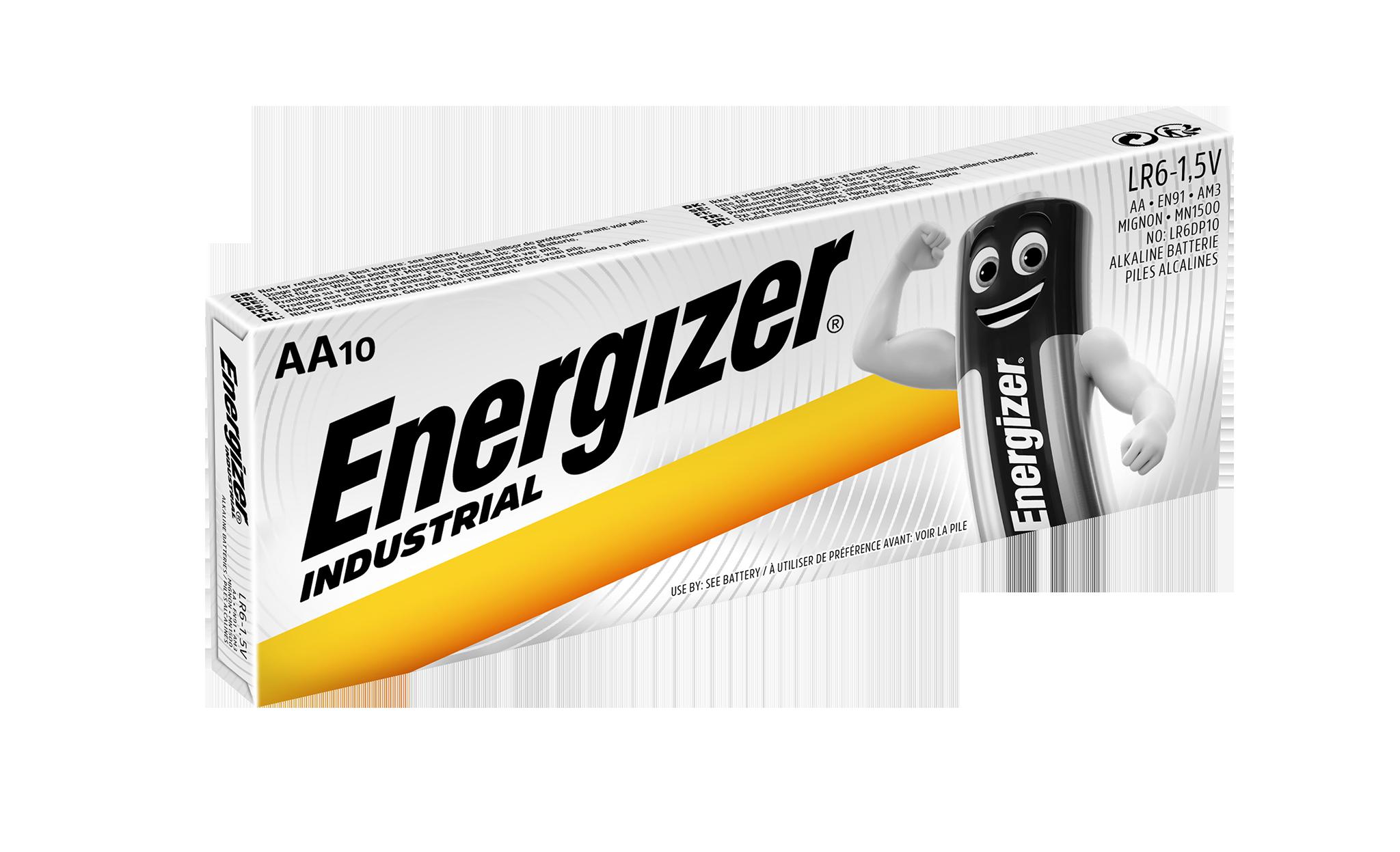 Baterie AA / LR6 ENERGIZER Industrial 10ks