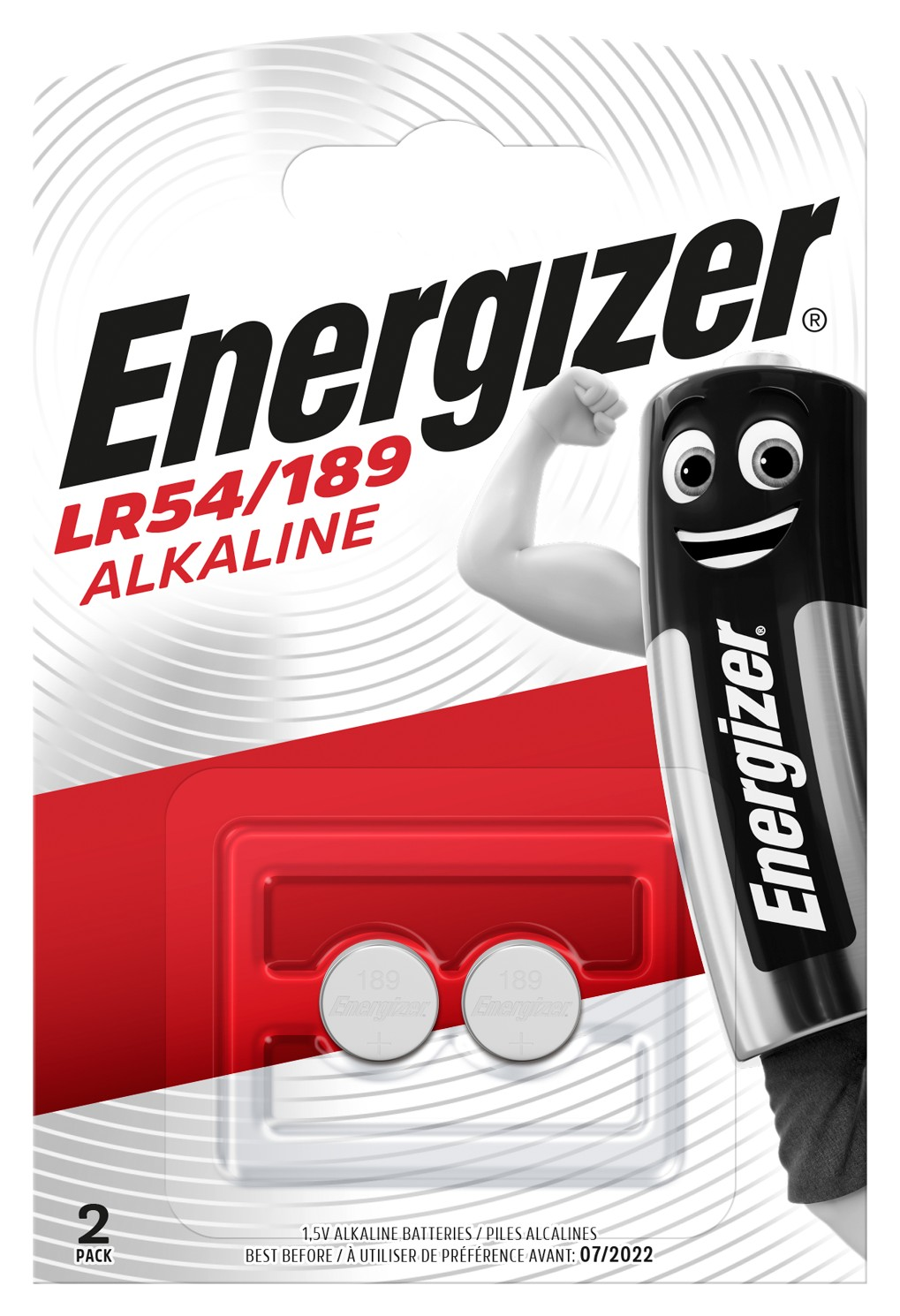 Baterie LR54/189 ENERGIZER, 2 ks (blistr)