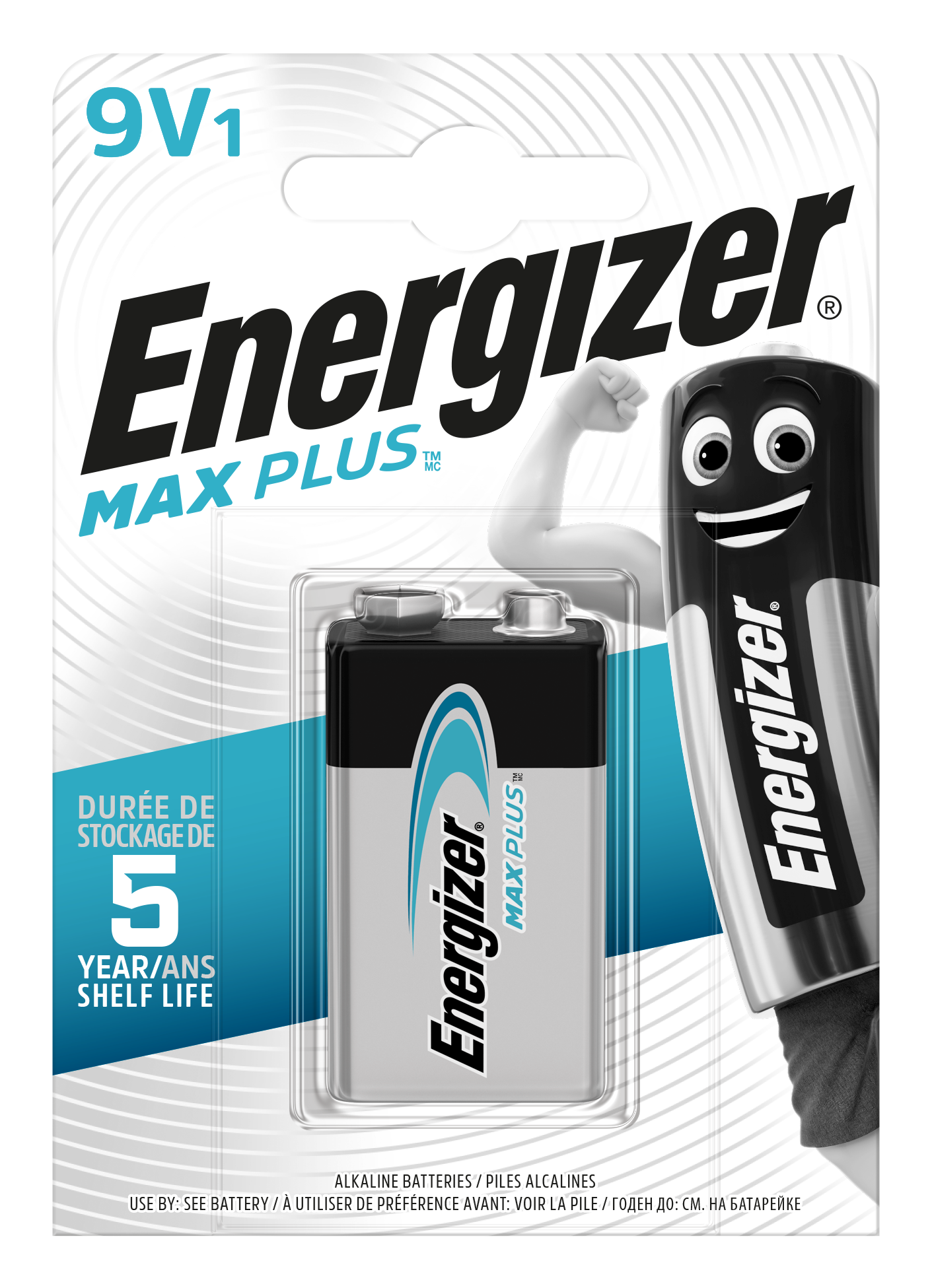 Baterie 9V ENERGIZER MAX PLUS, 1ks (blistr)