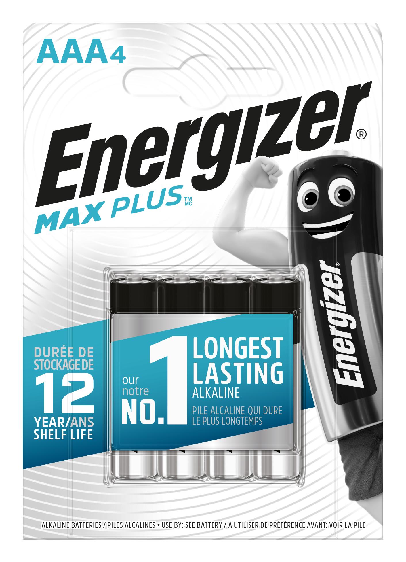 Baterie AAA/LR03 ENERGIZER MAX PLUS, 4 ks (blistr)