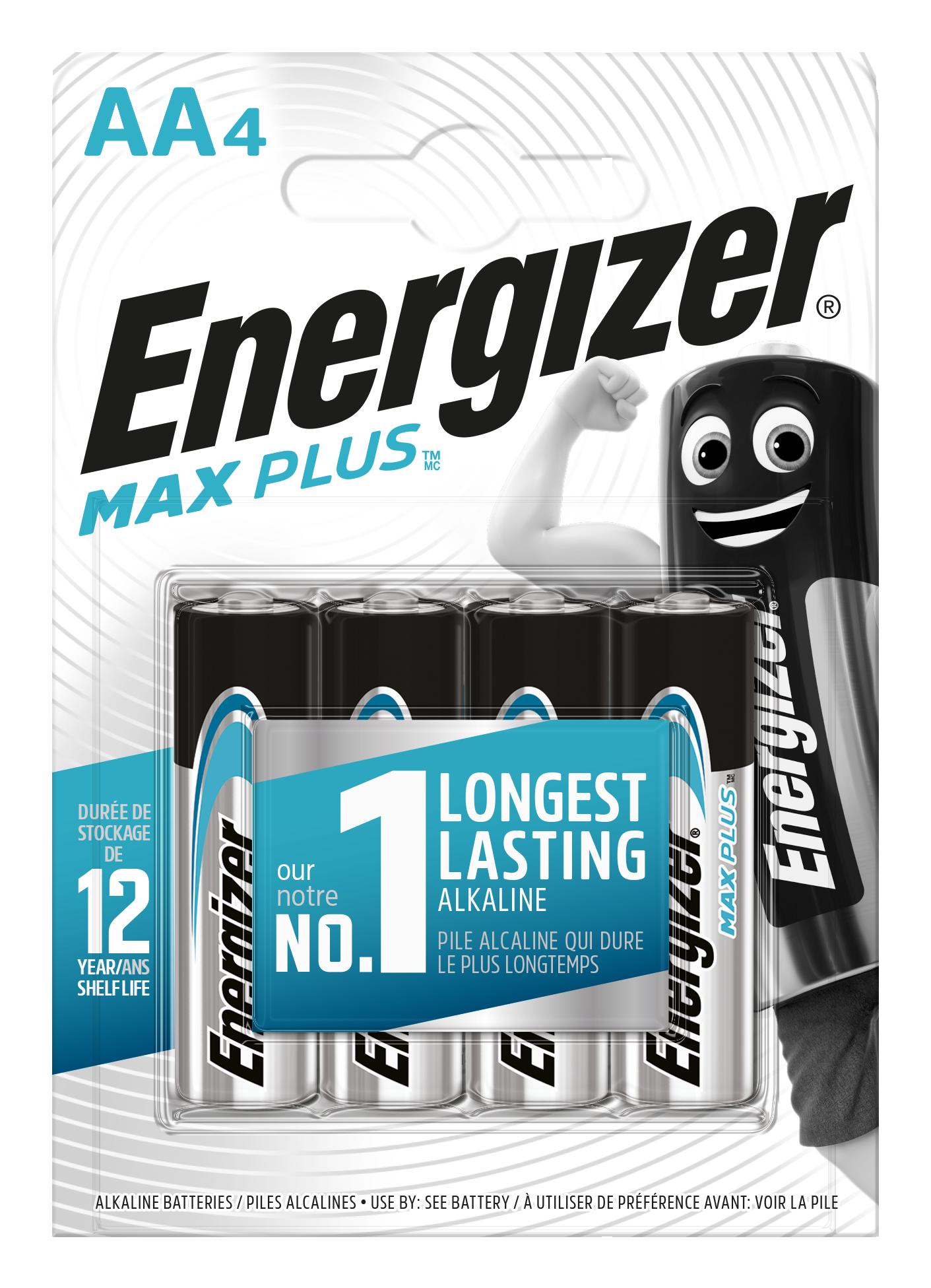 Baterie AA/LR6 ENERGIZER MAX Plus 4ks (blistr)