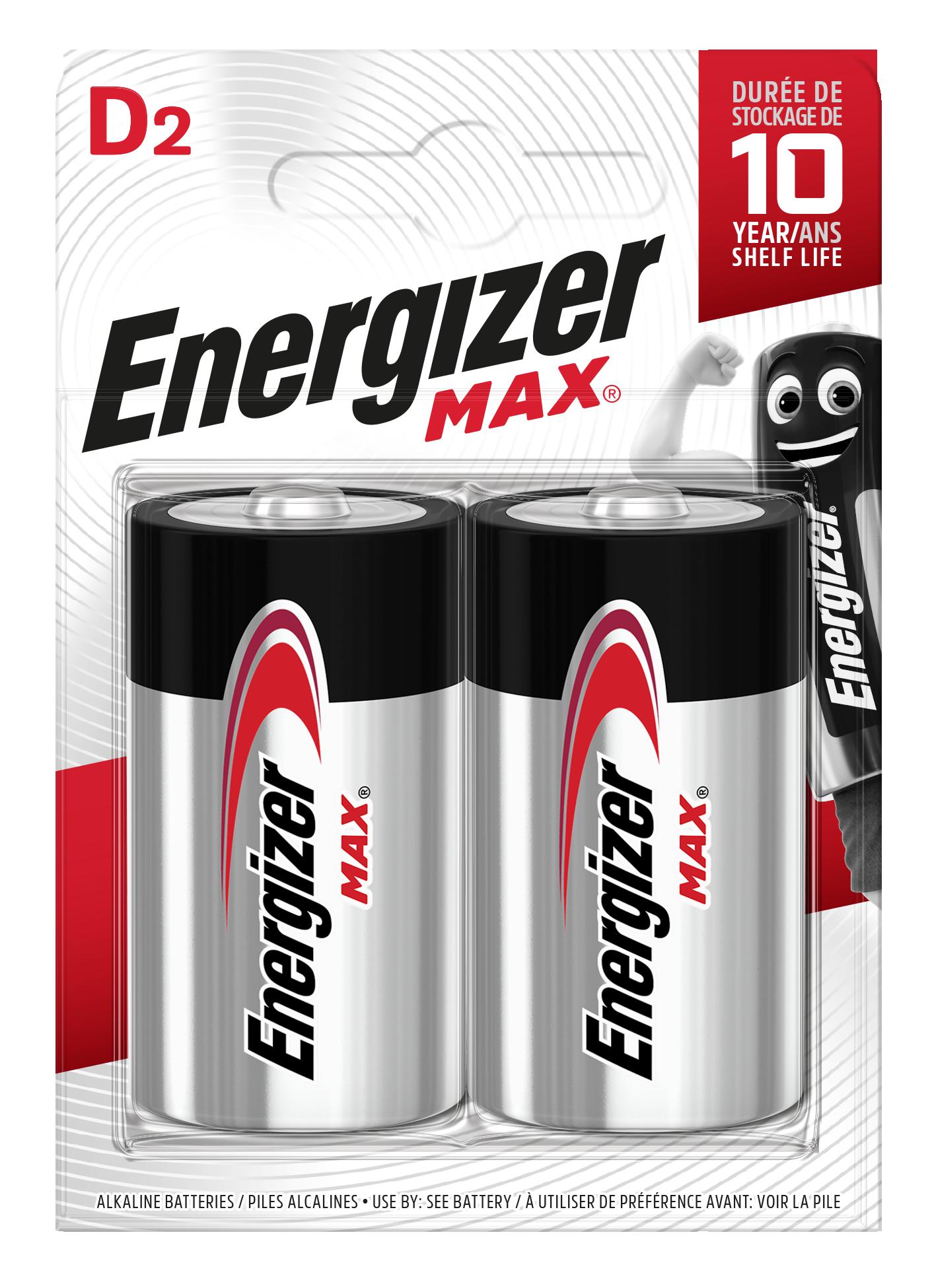 Baterie LR20/D ENERGIZER MAX, 2 ks (blistr)