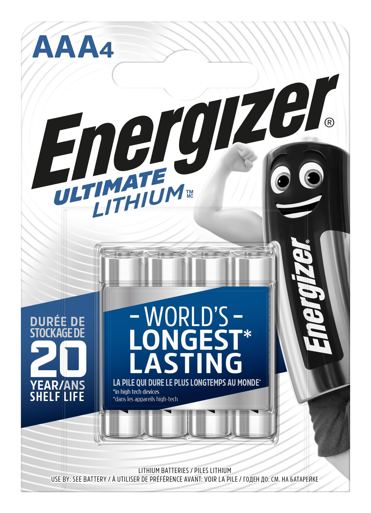 Baterie AAA/FR03 ENERGIZER Ultimate LITHIUM, 4 ks (blistr)